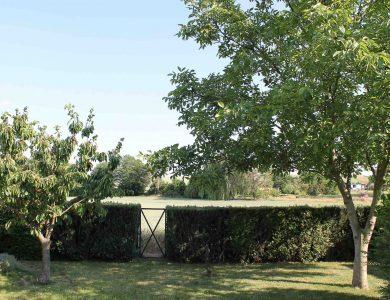 Uneinsehbarer, komplett umzäunter Garten